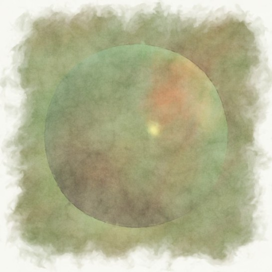"""Green Sphere In Watercolor"" artist: Piotr Siedlecki"