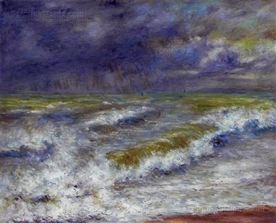 """Seascape"" Artist:  Pierre-Auguste Renoir"