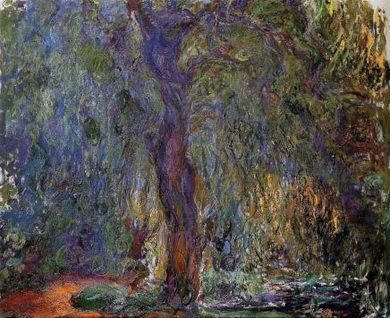 """Weeping Willow"" Claude Monet"