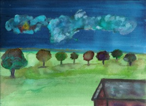 """trees and some clouds"" Rick"