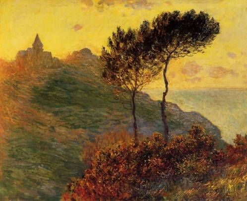 Claude-Monet-Church-at-Varengeville-against-the-Sunset-Oil-Painting