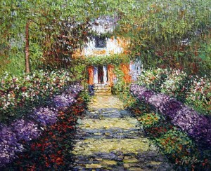 """A Pathway in Monet's Garden at Giverny"" Claude Monet"