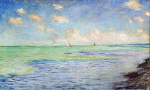 """the sea at pourville"" Claude Monet"