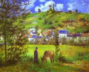 """""""Landscape at  Chaponval"""" Camille Pissarro"""