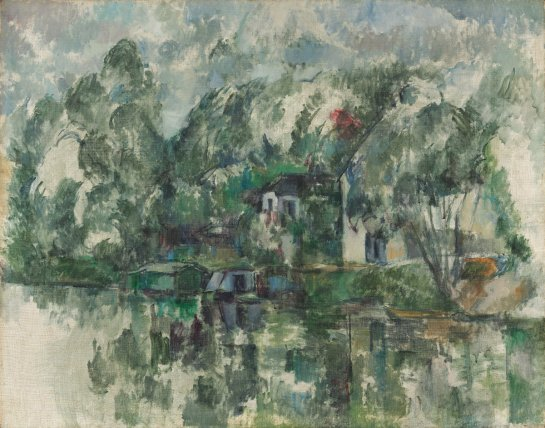 """""""At the Water's Edge"""" Paul Cezanne"""