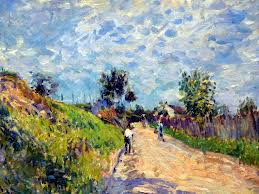 """Chemin montant"" Alfred Sisley, 1870"