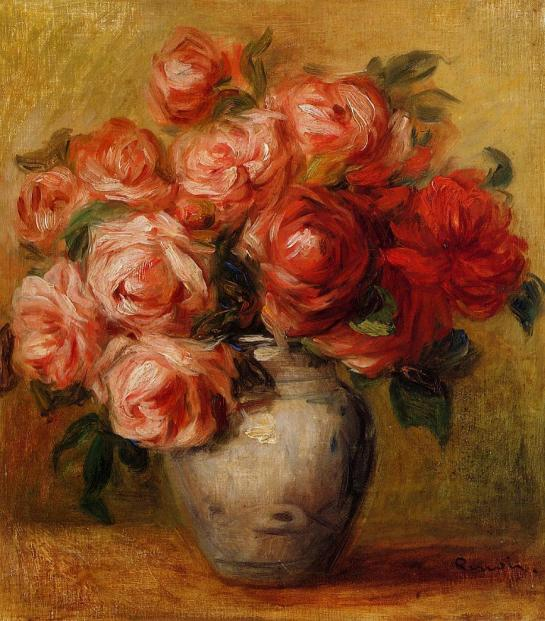 "Claude Monet ""Still Life with Roses"""