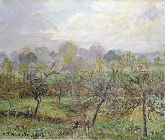 "Camille Pissarro ""Autumn Morning Mist"""