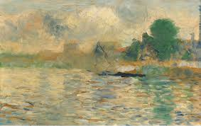 Seurat -Barge on the Seine