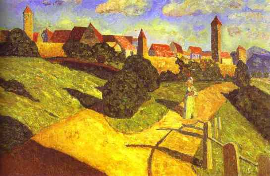 Old-Town-Black-and-Violet-Wassily-Kandinsky-1902