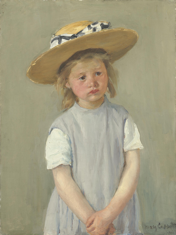 child_in_a_straw_hat_by_mary_cassatt_c1886