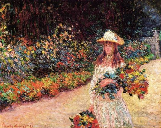 5-young-girl-in-the-garden-at-giverny-claude-monet-impressionism-flowers