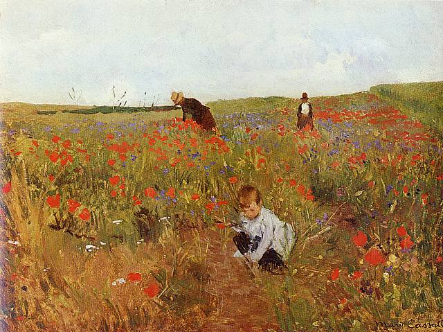 Mary_Cassatt_-_Picking_flowers_in_a_field_--_1875 (1)