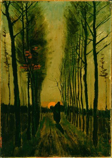 Vincent-van-Gogh-Lane-of-Poplars-at-Sunset-6